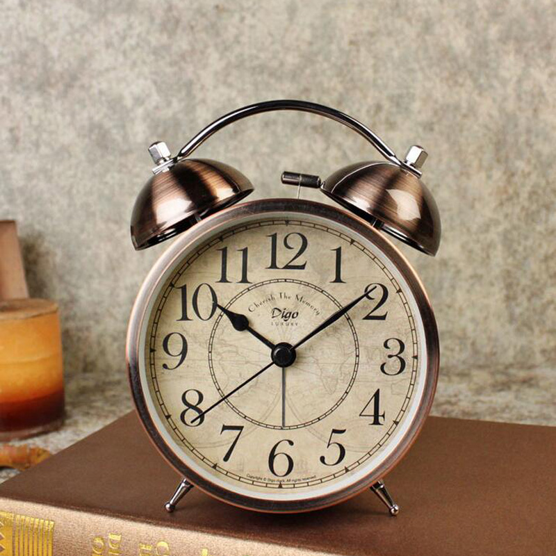 Bell Vintage Retro Alarm Clock With Backlight Home Decorative Loud For Heavy Sleeper Old Fashioned Table In Clocks From Garden On