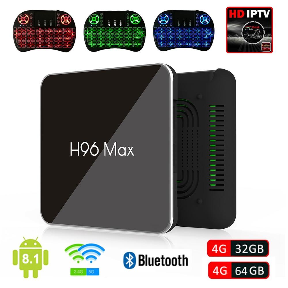 H96 Max X2 Android 8.1 TV Box Amlogic S905X2 4GB 32GB / 4GB 64GB Dual WiFi Bluetooth USB 3.0 4K Set Top Box IPTV Keyboard Option