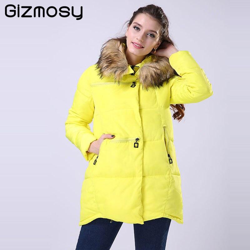 1PC Winter Jacket Women casaco feminino Thickening Cotton Hooded   Parka   For Women Winter Coat jaqueta feminina plus size BN006