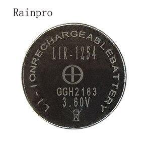 Image 2 - Rainpro 2 יח\חבילה LIR1254 1254 3.6V נטענת כפתור סוללה במקום 3.7V 40mAh Bluetooth אוזניות
