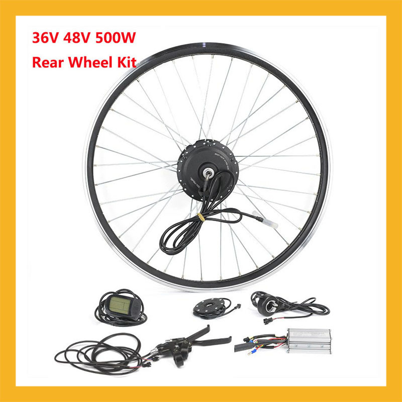 Rear Wheel Brushkess Gear Hub Motor Kits 36V 48V 500W 26inch 28inch 700C For Electric Bicycle Conversion Parts Speed 35km/h seiko ssa213j2