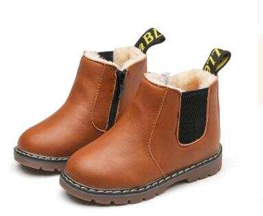 US $5.5 45% OFF|Children Shoes Fashion Kids Boots 2019 Autumn Winter Soft Leather Riding Boots Warm Fur Boys Ankle Boots Baby Girls Casual Shoes in