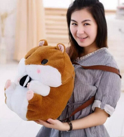 Gift for baby 1pc 50cm super cute fat chestnut hamster squirrel plush backpacks outdoor students shoulder bag girl lady toy
