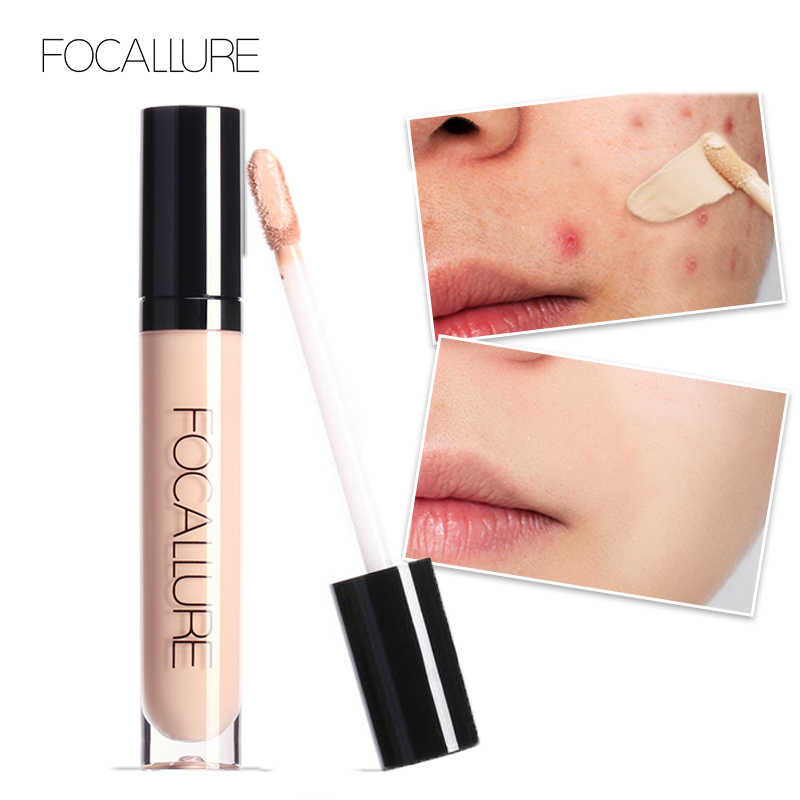 FOCALLURE Full Coverage Makeup Correttore Liquido Conveniente Correttore Crema Per Gli Occhi Waterproof Make Up di Base Concealer Cosmetico
