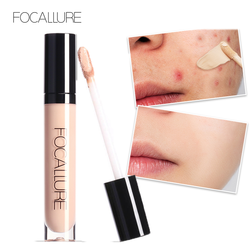 FOCALLURE Full Coverage Makeup Liquid Concealer Convenient Eye Concealer Cream Waterproof Make Up Base Cosmetic Concealer image