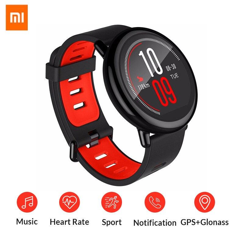 Montre originale Xiaomi Huami Amazfit Pace Bluetooth 4.0 sport bracelet intelligent en céramique Smartwatch moniteur de fréquence cardiaque anglais espagnol