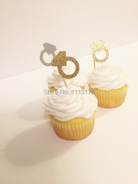 glitter ring cupcake toppers wedding party bridal shower cupcake topper decor birthday wedding party