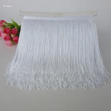 YY-tesco 1 ярд 15 см длинная кружевная бахрома отделка кисточка белая бахрома отделка для латинских платьев аксессуары для сценической одежды кружевная лента