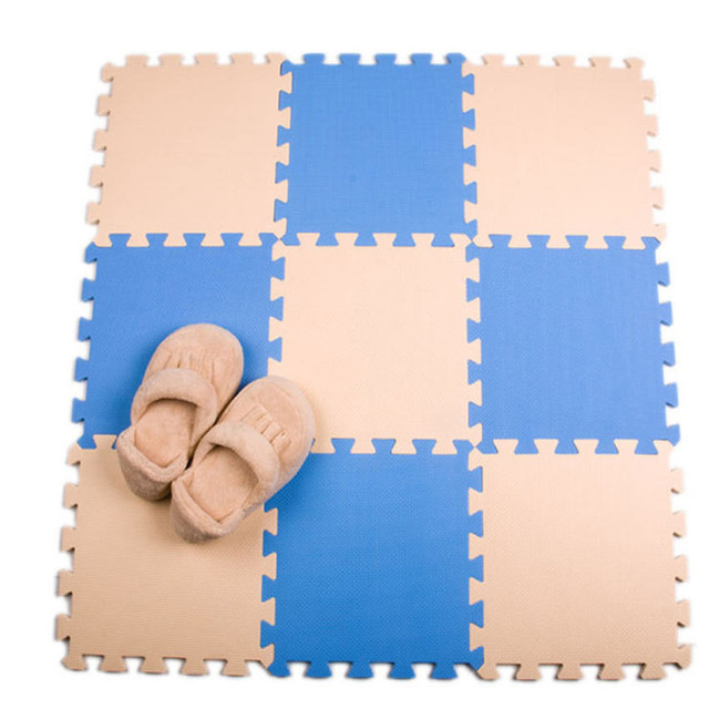 Meitoku  baby EVA Foam Interlocking Exercise Gym Floor play mats Protective Tile Flooring carpets30X30cm 10pcs/lot,
