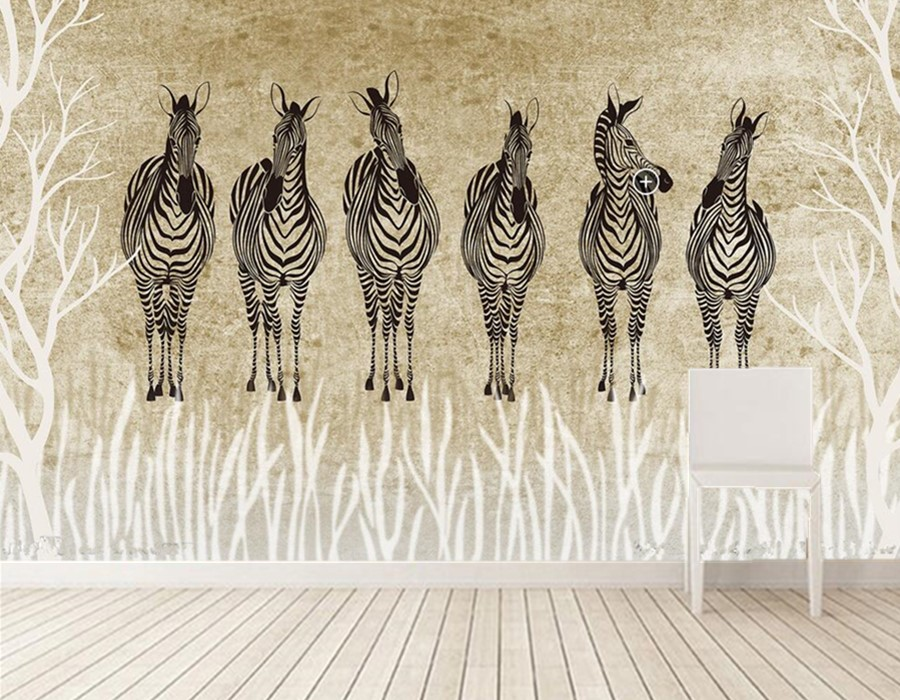 Custom papel de parede,Retro personality zebra mural,restaurant coffee shop living room tv sofa wall bedroom 3d wallpaper custom mural papel de parede foxes water stones animals wallpaper restaurant living room tv sofa wall bedroom 3d wallpaper