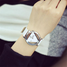 Cool ladies quartz Watch 1PC Hot  Classic Unique Hollowed-out Triangular Dial Fashion Watch Free Shipping NA12