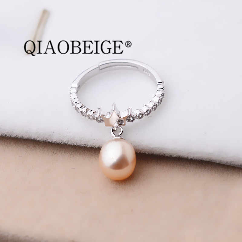 QIAOBEIGE New Arrivals 925 Sterling Silver Crown Rings For Women Adjustable Size Finger Ring Fashion sterling silver jewelry