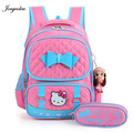 High Quality Hello Kitty  Girl School Bag Waterproof  Primary Backpack Kid  Bag Lovely Boby Bag