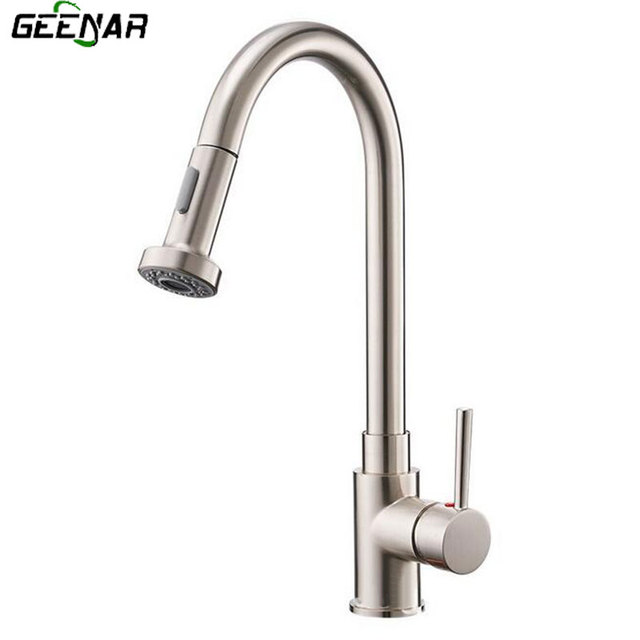 Drawing process, kitchen hot and cold water faucet, draw and stretch ...