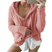 2017 Autumn Soft Knitted Sweater Pullovers With Hooded Women Drawstring Cropped Sweater Coat Winter Fashion Femme