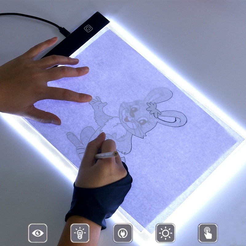 Tracing Board A5 Tracing Board LED Light Box Tracer Ultra-Thin Drawing Tablet Three-Level Dimming 8.5inch Writing Board 5V