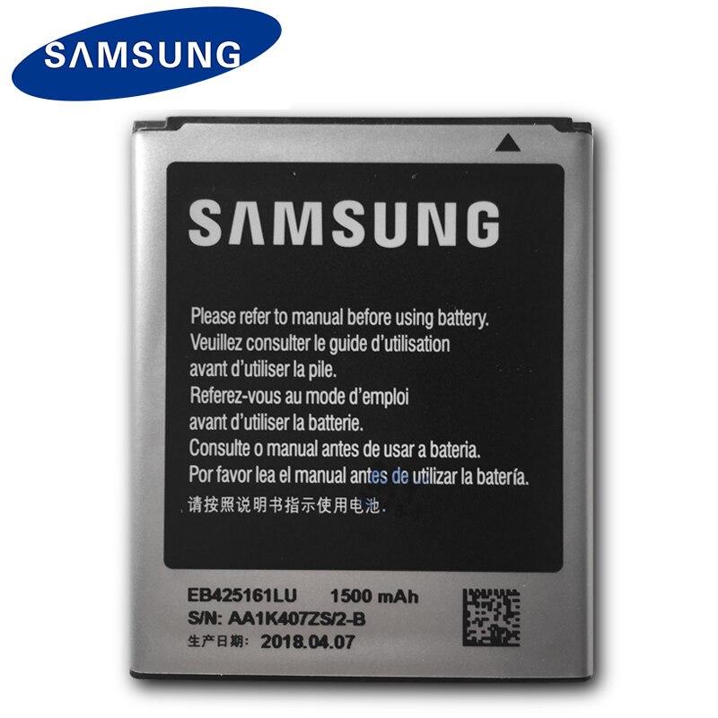 Samsung EB425161LU 1500 mAh batería Original para Galaxy S Duos S7562 S7566 S7568 i8160 S7582 S7560 S7580 i8190 i739 i669 j1 Mini