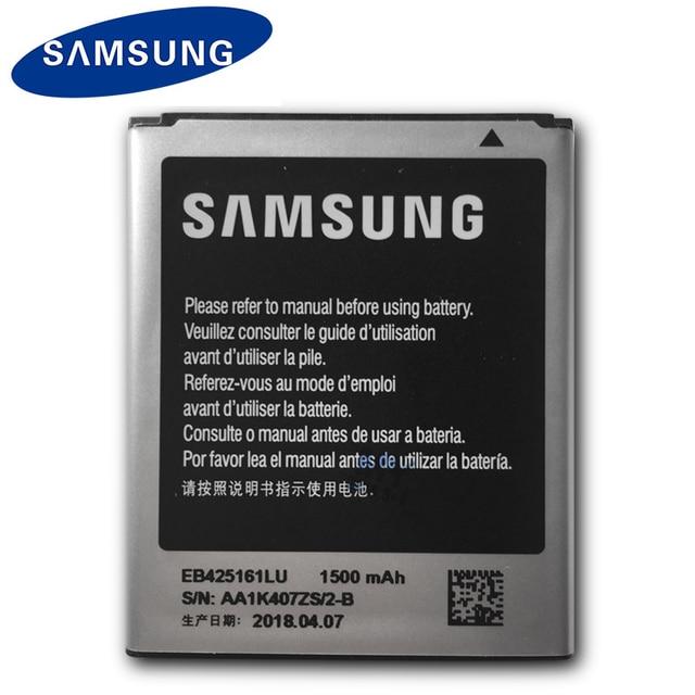 Samsung EB425161LU 1500 mah Orijinal Pil Için Galaxy S Duos S7562 S7566 S7568 i8160 S7582 S7560 S7580 i8190 i739 i669 j1 Mini