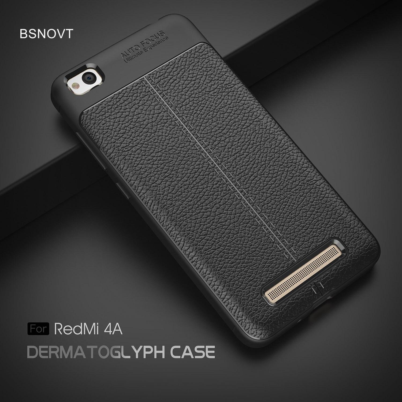 For Xiaomi Redmi 4A Case Soft Silicone Leather Anti-knock Bumper Cover Funda BSNOVT