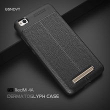 For Xiaomi Redmi 4A Case Soft Silicone Leather Anti-knock Bumper Cover Funda BSNOVT
