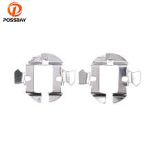 POSSBAY Auto Car Cover 2pcs H7 HID Xenon Bulbs Headlight Adapters Holders Conversion Kit Converters For Audi A6