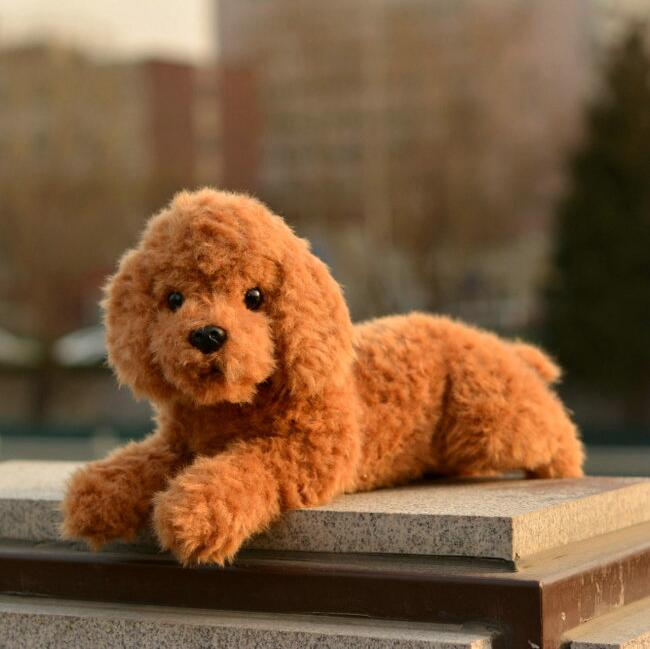 Stuffed Teddy  Dog Doll  Plush   Animal  toys for children Can Be Sound  brown Lying position