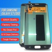 ACKOOLLA мобильных телефонов Дисплеи для samsung Galaxy S7 края мобильного телефона аксессуары Запчасти дисплеев мобильных телефонов Сенсорный экран