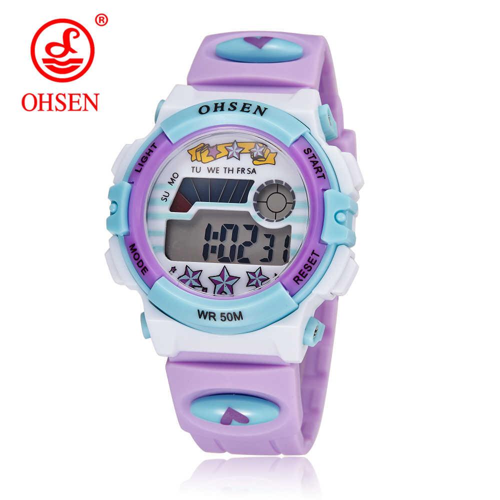 Hot OHSEN Children Watch Boys Life Waterproof Digital LED Sports Watch Kids Alarm Date Casual Watch Gift Hombre Reloj Deportivo