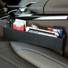 Left and Right Universal Dual USB Car Seat Gap Storage Box Catcher Phone Holder Charger|4 Color