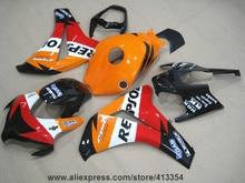 Высокое качество литья под давлением обтекатели для Honda CBR1000RR 08 09 10 11 оранжевый черный обтекателя комплект CBR 1000RR 2008-2011 HK31