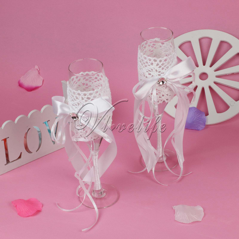Online Shop 2pcsset Fashion Wedding Favors Toasting Glasses Wine