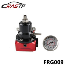 RASTP-High Performance Fuel Injected Bypass Pressure Regulator 2 to 20 psi AN10 With Gauge RS3-FRG009 wlr racing an8 high pressure fuel regulator w boost 8an 8 8 6 efi fuel pressure regulator with gauge wlr7855