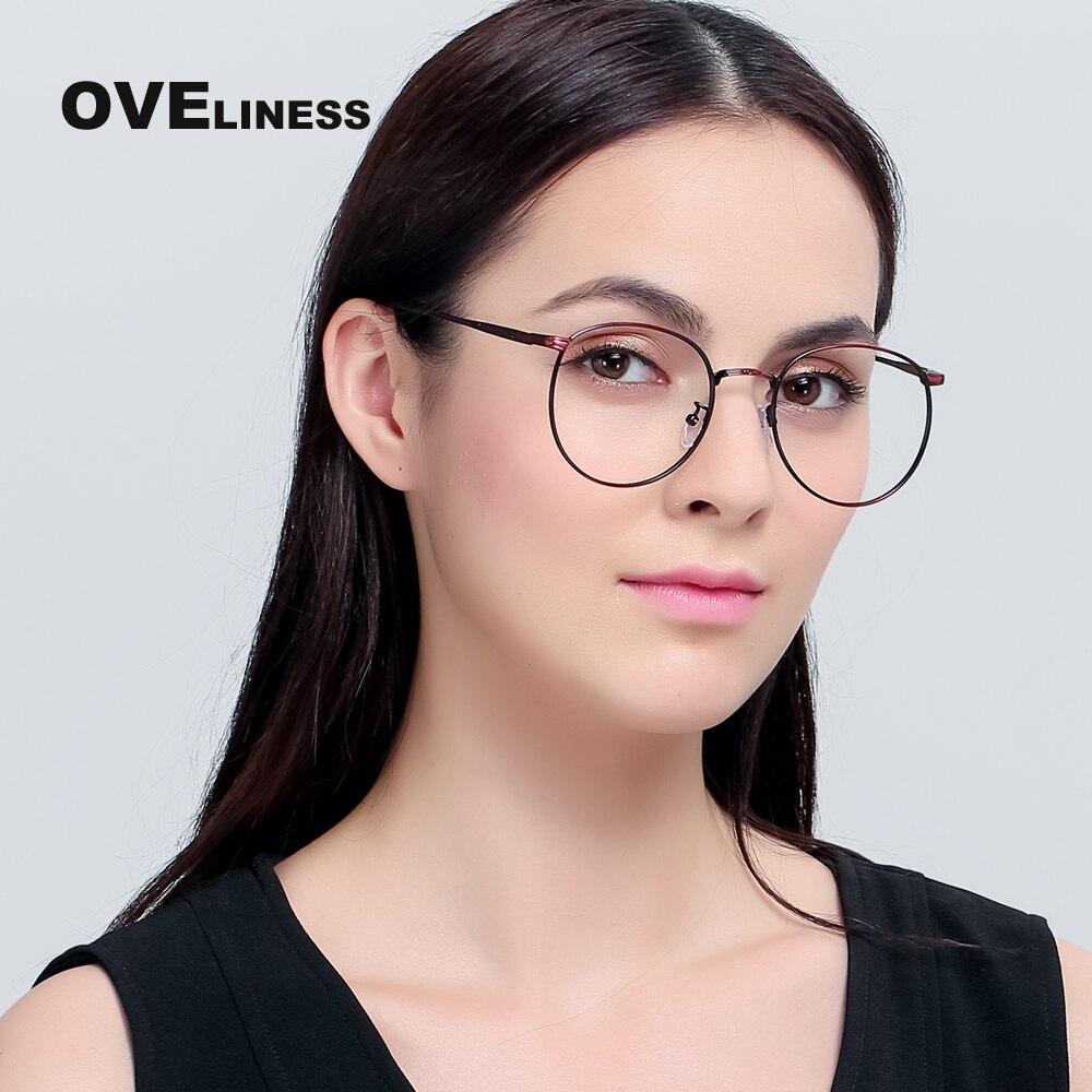 Metal ojo Gafas Marcos mujeres ojo óptico Gafas Marcos grande ...