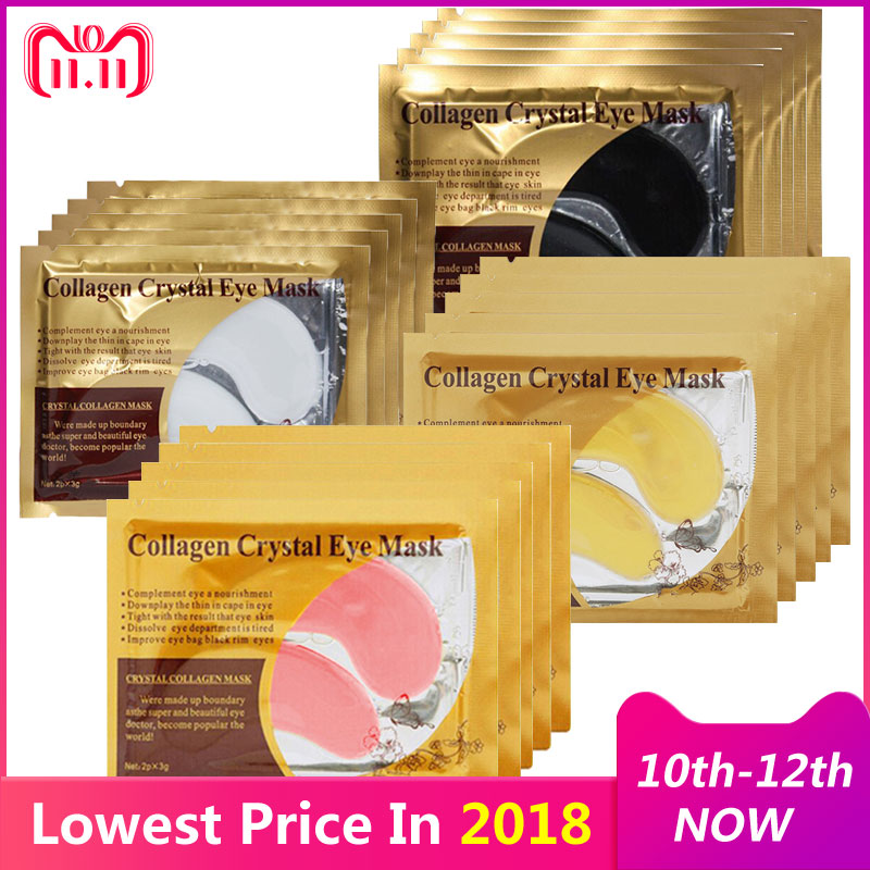 EFERO Collagen Eye Mask Face Care Ageless Anti Aging Eye Bags Dark Circles Moisturizing Skin Care Eye Patch for Eye Care 20Pair pilaten 5pcs crystal eyelid mask anti wrinkle dark circles eye bag remover black eye face skin care moisturizing eye care mask