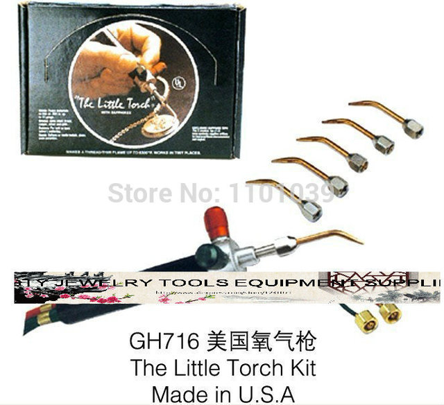 Gold Welding Torch Equipment for jewelry tools With 5 Tips,Smith Little Torch, jewelry propane torch, oxygen acetylene torch