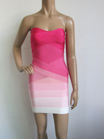 Free Shipping Pink And Purple Sweet And Sexy Celebrity Boutique Cocktail Party Bandage Dress L866