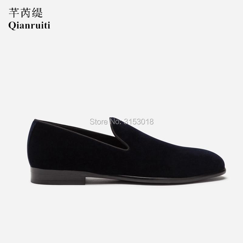 Классическая мужская повседневная обувь из бархата ручной работы; деловая модельная обувь без застежки; сезон весна; 2019; обувь для улицы; подарок - 5