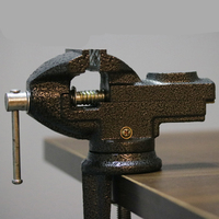 DIY Table clamp Bench vise Mini table vise Full cast iron vise 360 angle Rotation Holdable Fixing tool wood work tool