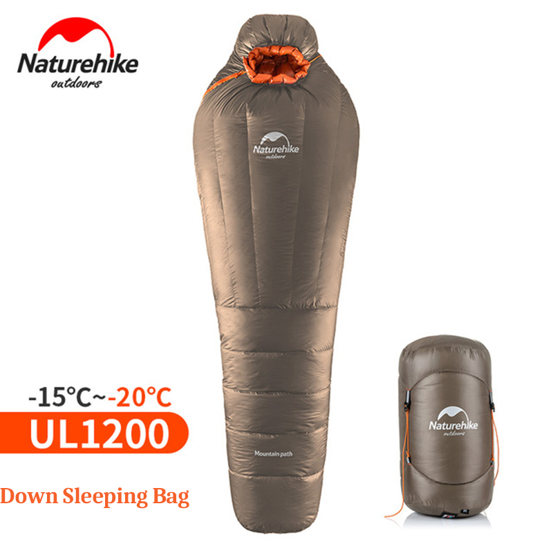 NatureHike Mummy Sleeping Bag Ultralight Outdoor Camping Adult Sleep Bag With Compression Sack Warm Winter 20
