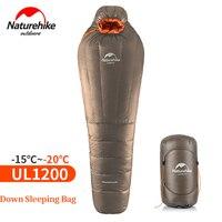 Naturehike Мумия спальный мешок Сверхлегкий Открытый Отдых Взрослый сна сумка с компрессионными Sack теплые зимние 20 ~ 10 градусов Цельсия