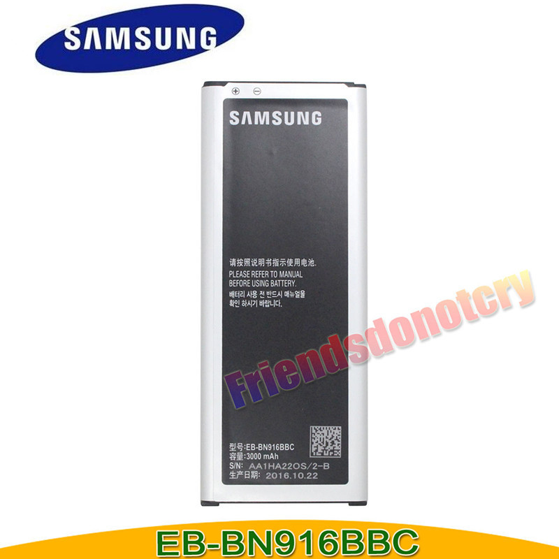 Original for Samsung <font><b>Battery</b></font> <font><b>3000mAh</b></font> for Samsung Galaxy <font><b>Note</b></font> <font><b>4</b></font> Duos EB-BN916BBC SM-N9100 Duos n9100 N9108v N9106w NFC function image
