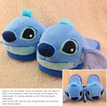 2015 Winter New Women's Cartoon Cotton Slippers Cute Stitch Indoor Shoes Plush Warm Soft Bottom Non-slip Home Floor Slippers