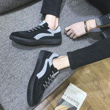 Spring/Autumn 2019 New Men Shoes Casual Oxfords Flock Fashion Sneakers Low-cut Lace-up Breathable Trend Men's Shoes High Quality male casual shoes high quality lace up oxfords men flats spring autumn breathable driving shoes aa30065