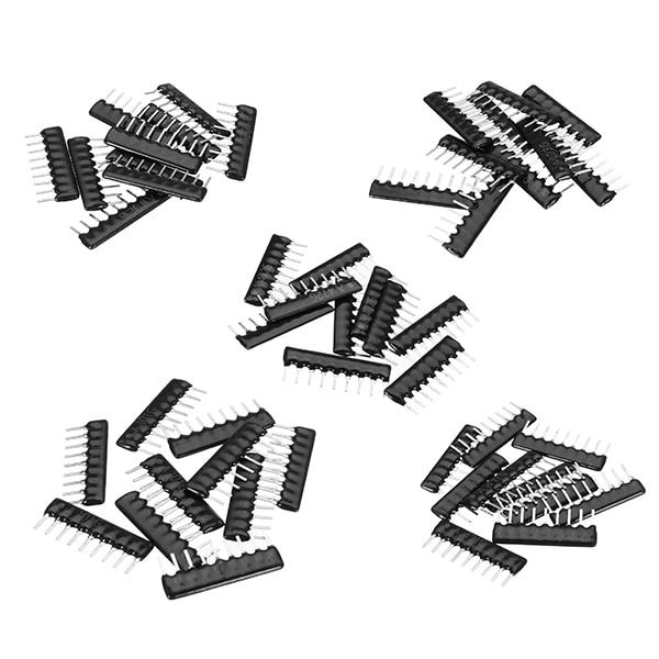 50 шт./лот 10 шт. 5 значения 2.54 мм 9Pin резистор пакет Сеть резистор массив компонент обновления A09-101 A09-102 A09-103 A09-471 a09-472