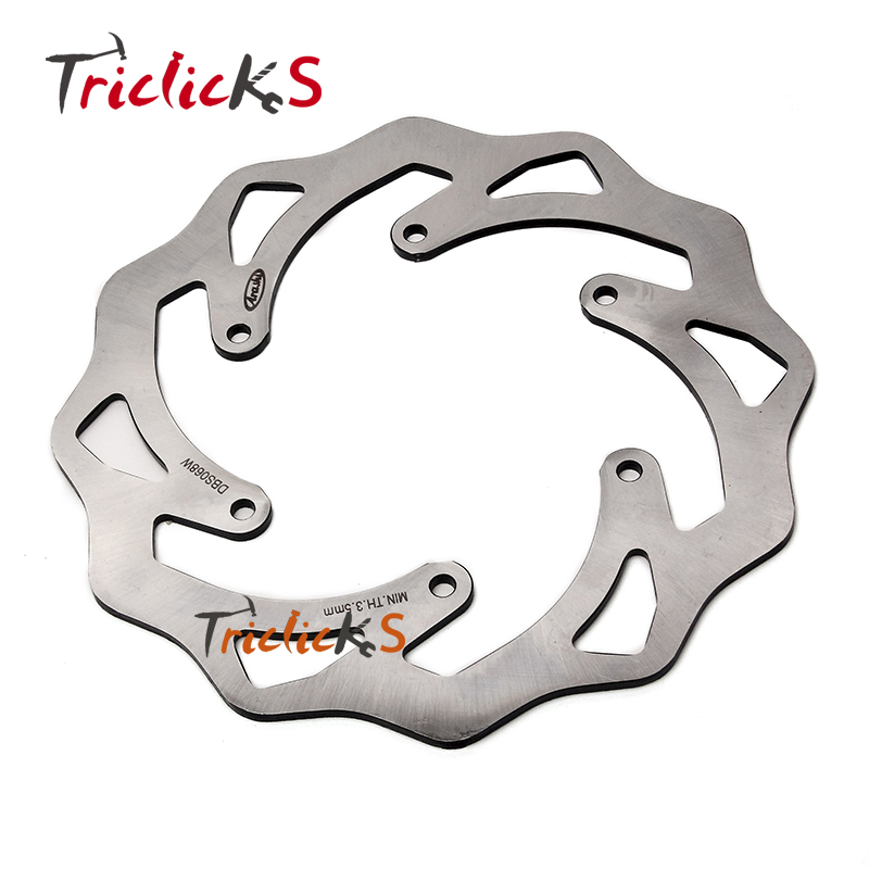 Triclicks Wavy 220mm Motorcycle Rear Brake Disks CNC Brake Disc Rotors For KTM EXC SX SXF 125 150 200 250 300 350 400 450 520