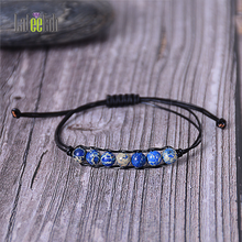 Lateefah Fashion Leather Rope Natural Stone Bracelet Amazon Shi Di Winding Hand Woven Handmade