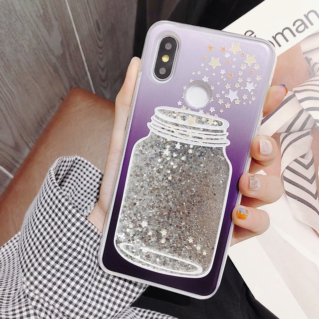 sports shoes 6bb85 99bfd US $1.99 20% OFF|For Xiaomi redmi 5 plus Case Glitter Back Cover redmi note  5 Global Dynamic Liquid Case xiomi redmi note 5 pro Quicksand Cover -in ...