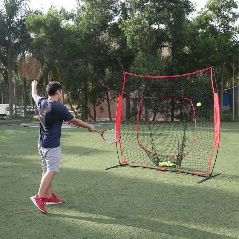 From USA Shipping Outdoor Tennis training Power Net Baseball and Softball Practice Net 7 x 7 with bow frame NetFrom USA Shipping Outdoor Tennis training Power Net Baseball and Softball Practice Net 7 x 7 with bow frame Net