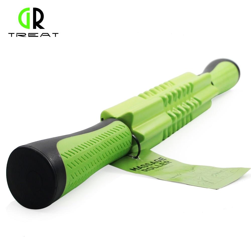 GR Treat Foam Massage Roller Muscle Roller Stick Muscle Massager Stick For Relief Muscle Soreness, Handheld Massage Roller Stick