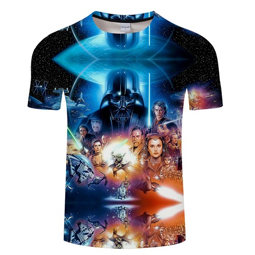 Men Darth Vader Heavy Metal printing Designer Funny T Shirts Short Sleeve Tee Creative fashion Star War t-shirts Cotton  S-6XL